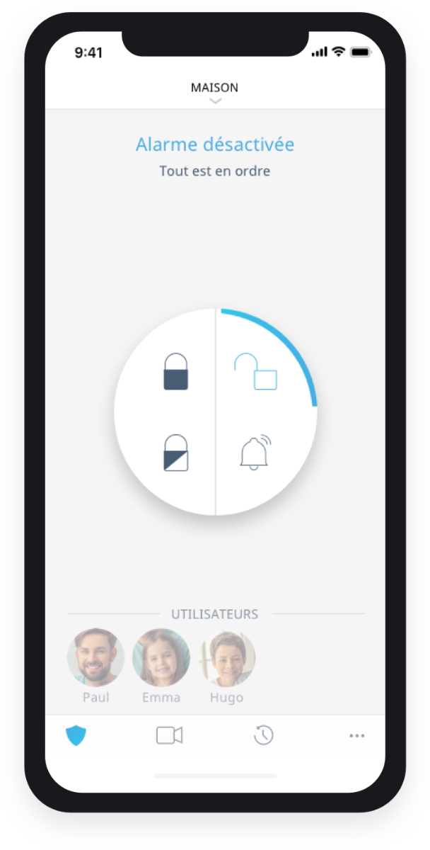 Application mobile telesurveillance