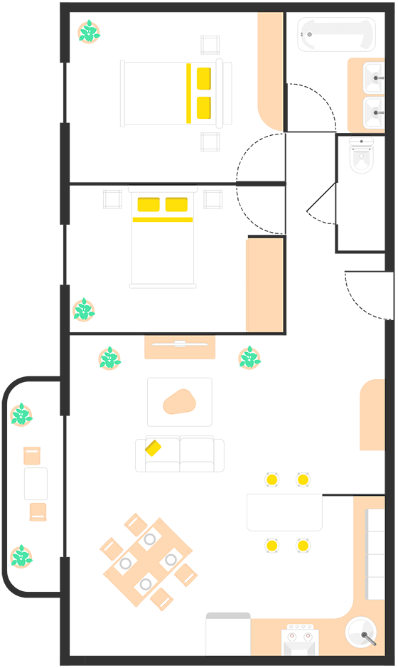 Plan maison alarme