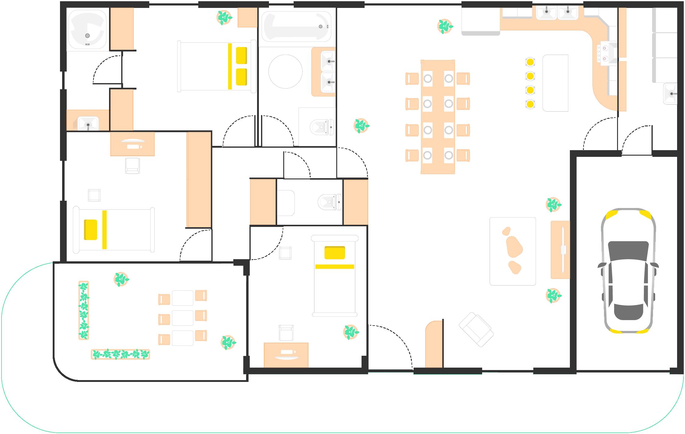 Exemple de plan de maison.